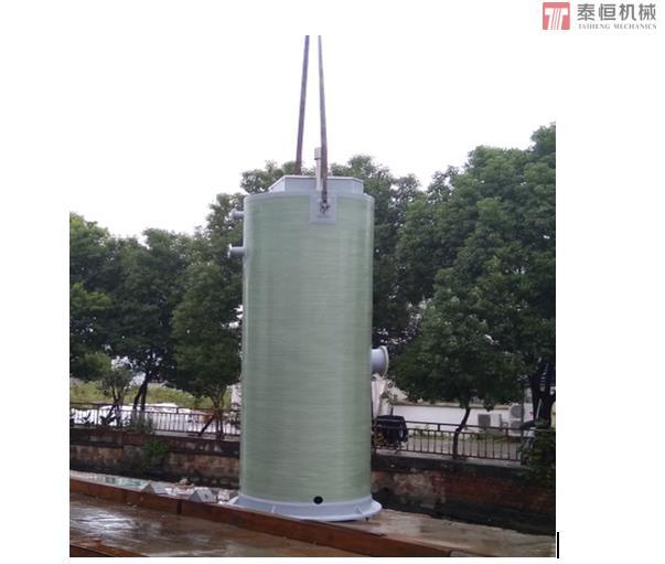 玻璃钢一体化预制垂直吊装
